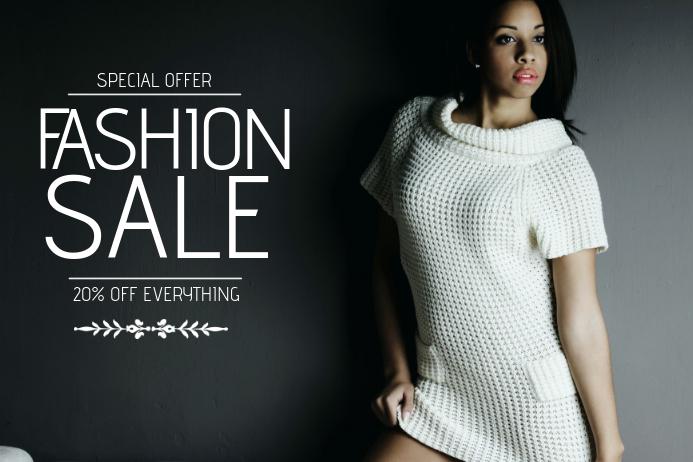 fashion sale flyer template landscape