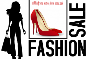 fashion sale landscape poster template