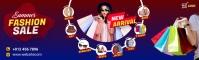 Fashion Sale LinkedIn Background Image template