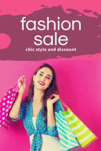 Fashion Sale Pinterest Templates