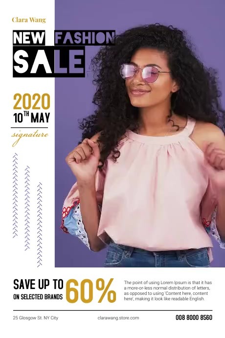 Fashion Sale Poster Póster template