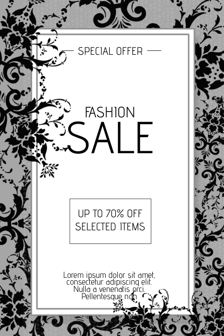 fashion sale flyer template