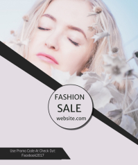 Fashion Sale Large Rectangle template