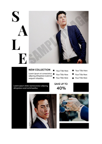 Fashion Sale Promotional Flyer A6 template