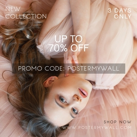 Fashion Sale Promotional Instagram Banner