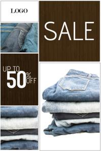 Fashion sale retail poster