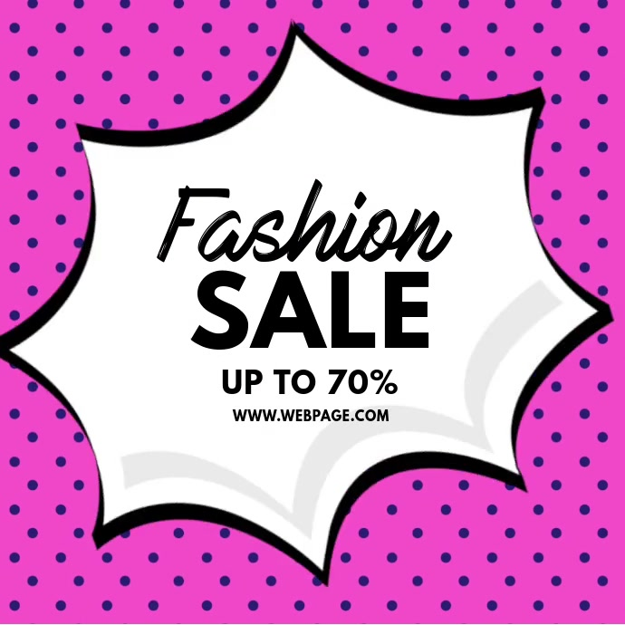 Fashion Sale Retail video Instagram template