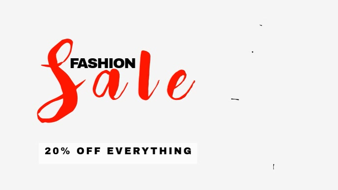 Fashion sale Video promotion for facebook cover template