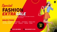 Fashion Sale YouTube Channel Cover Photo Coverfoto til YouTube-kanal template