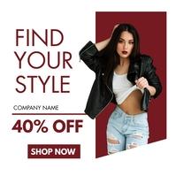 fashion sales advertisement design template Message Instagram