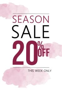 Fashion Season Sale Flyer Template pink