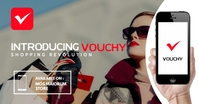 fashion shopping app advertising Anuncio de Facebook template