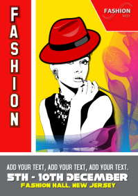 fashion show, event, flyer poster