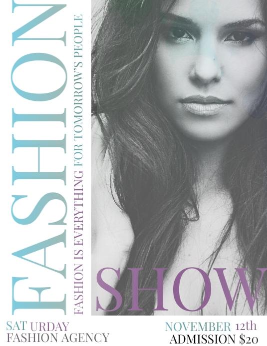 Fashion Show Løbeseddel (US Letter) template