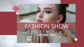 Fashion Show Digital Display Landscape Video template
