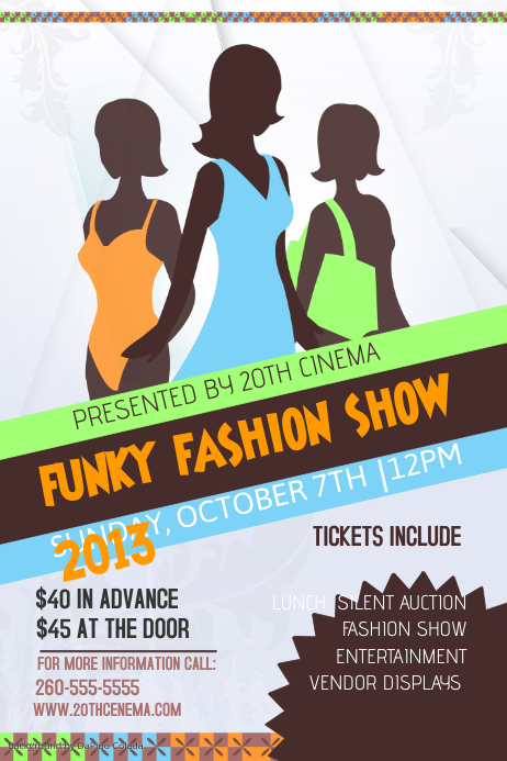 Fashion Show Event Poster Template | PosterMyWall