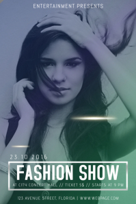 Customizable Design Templates For Fashion Show PosterMyWall - Fashion show flyer template