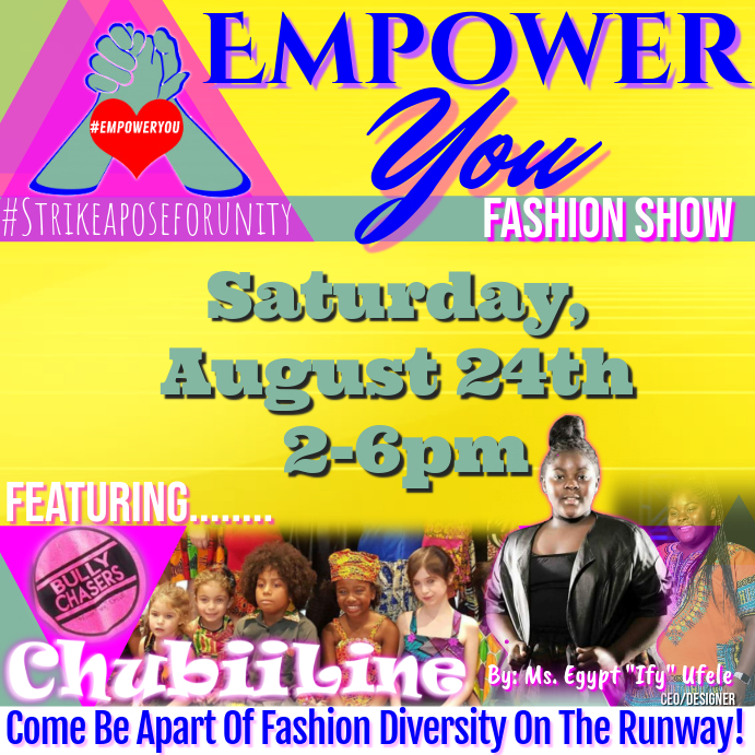Fashion show flyer Instagram Post template