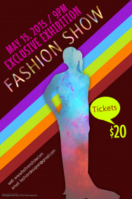 fashion show poster template