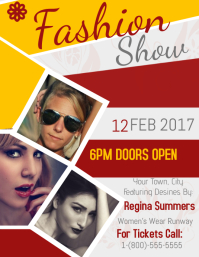 Fashion Show Volante (Carta US) template