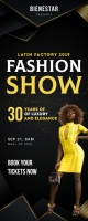 Fashion Show Roll up Banner Rullebanner 2' × 5' template