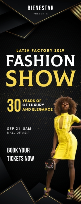 Fashion Show Roll up Banner template
