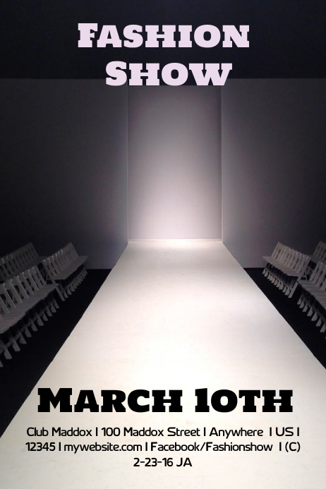 fashion show stage template