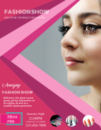 FASHION SHOW TEMPLATE FLYER