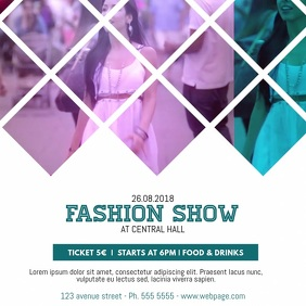 Fashion Show Video Advertising Template for Instagram