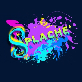 Abstract Splash Paint Logo Design template