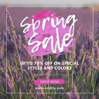Fashion Spring Sale Advert Square (1:1) template