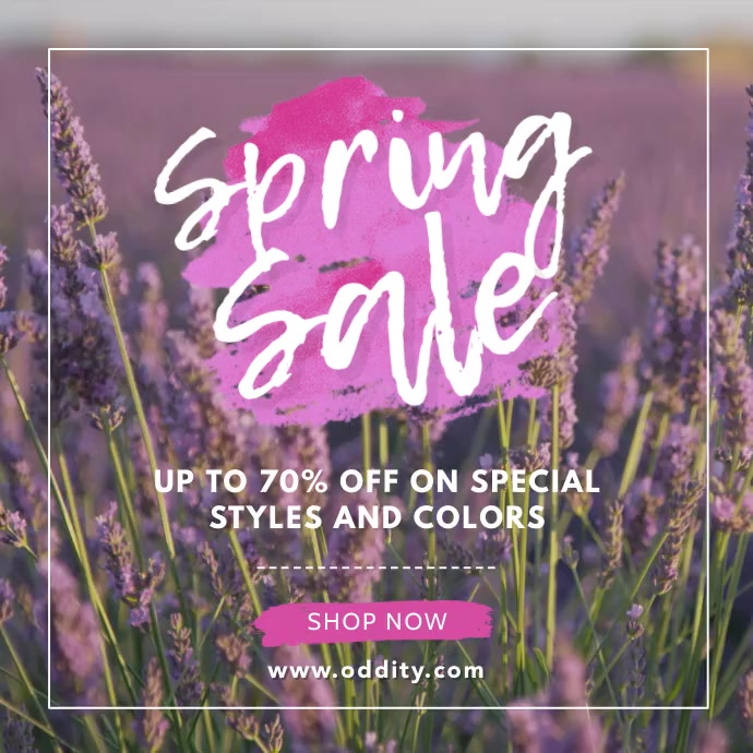 Fashion Spring Sale Advert Vierkant (1:1) template
