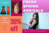 fashion/store/boutique/spring/style/retail Banier 4'×6' template
