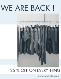 fashion store reopening flyer design template