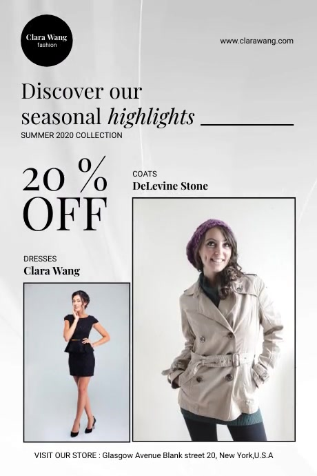 Fashion Store Video Flyer Iphosta template