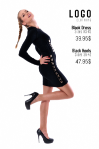 fashion style clothing sale promotion poster template