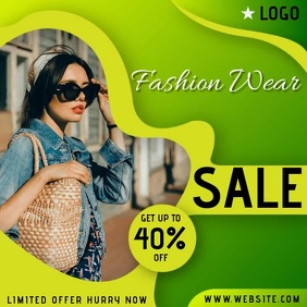 FASHION WEAR SALE AD TEMPLATE Logo