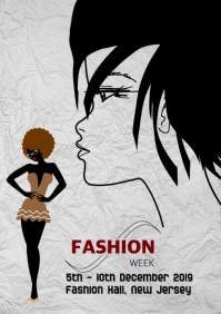 Fashion Week, Show, Event Flyer, Poster