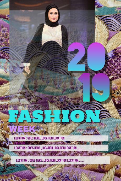 Fashion week 2019 poster 02