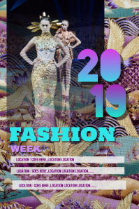 Fashion week 2019 poster