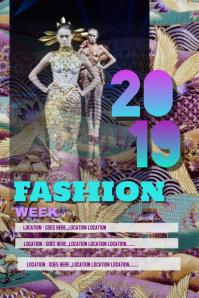 Fashion week 2019 poster