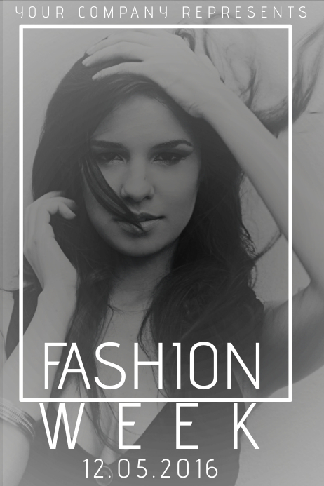 Fashion Week Event Black And White Flyer Template PosterMyWall