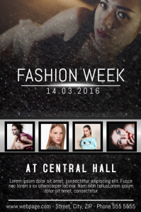 fashion week poster flyer event template for free