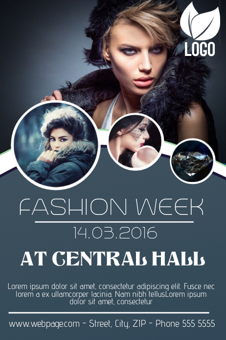 Fashion Week Event Flyer Template  Fashion Poster Design