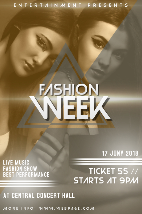 Fashion Week Event Flyer Template PosterMyWall - Fashion show flyer template