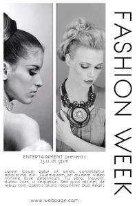 Fashion Week Magazine Page Style Flyer template