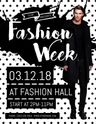 Customizable design templates for fashion show postermywall fashion week flyer stopboris Image collections