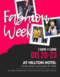 Fashion Week Show Flyer