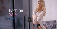 Fashion Woman Video 4K Facebook Shared Image template