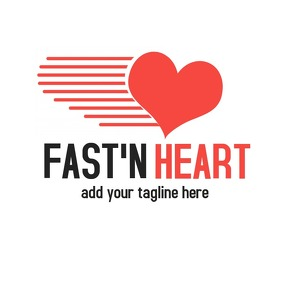 fast'n heart logo icon template